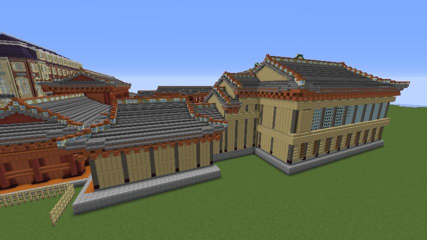 Minecrafterししゃもがマインクラフトで焼失した首里城南殿をぷっこ村に再建する6