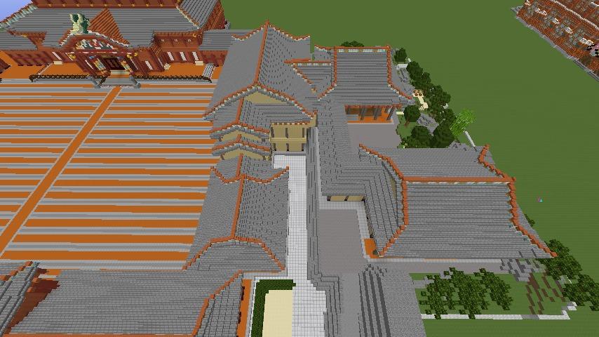 Minecrafterししゃもがマインクラフトで焼失した首里城の書院、鎖之間をぷっこ村に再建する6