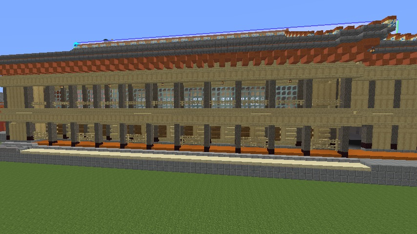 Minecrafterししゃもがマインクラフトで焼失した首里城の黄金御殿、寄満、近習詰所をぷっこ村に再建する4
