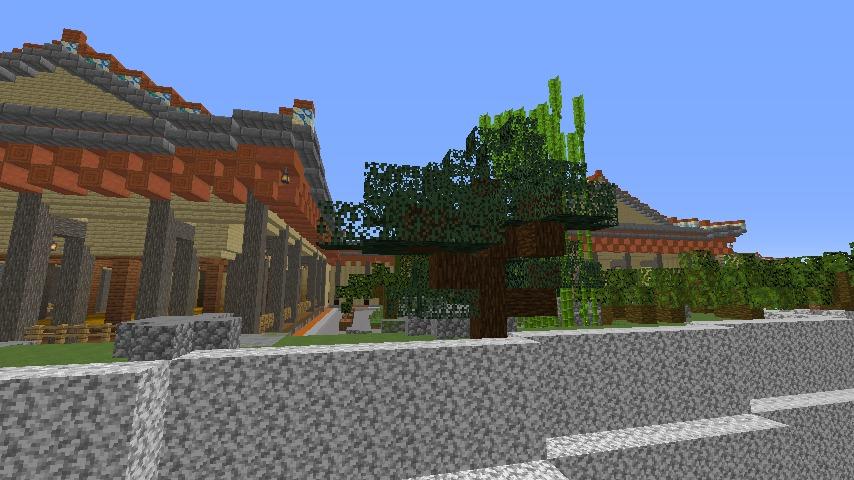 Minecrafterししゃもがマインクラフトで焼失した首里城の書院、鎖之間をぷっこ村に再建する5