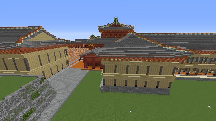 Minecrafterししゃもがマインクラフトで焼失した首里城の黄金御殿、寄満、近習詰所をぷっこ村に再建する5
