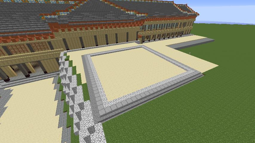 Minecrafterししゃもがマインクラフトで焼失した首里城の奥書院、二階御殿をぷっこ村に再建する1