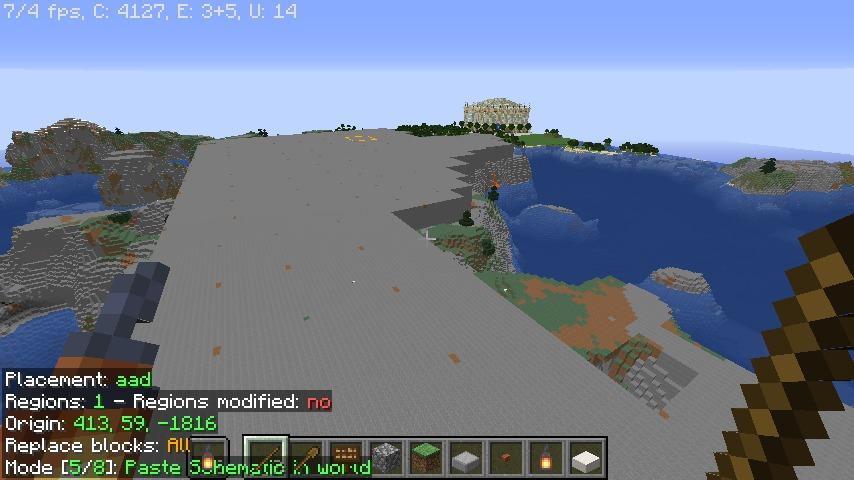 Minecrafterししゃもがマインクラフトで再建した首里城をぷっこ村に移築してみる4
