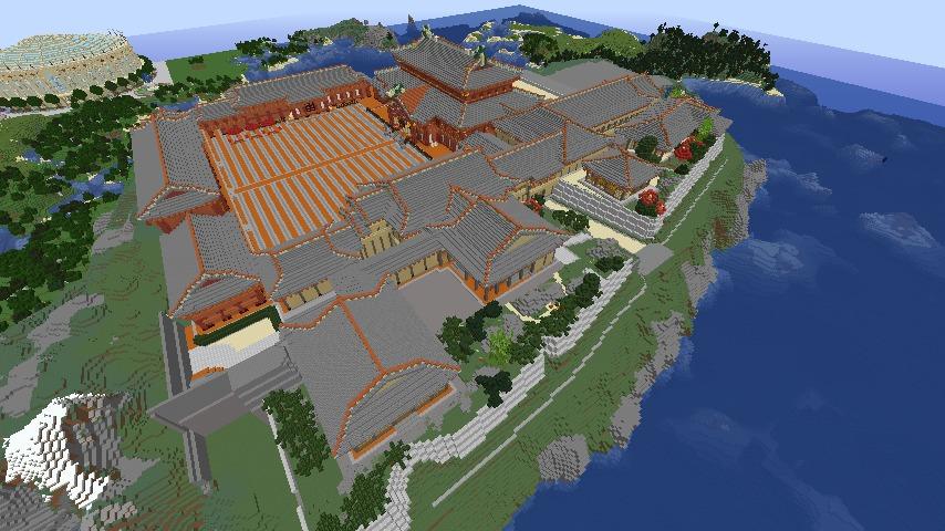 Minecrafterししゃもがマインクラフトで再建した首里城をぷっこ村に移築してみる5
