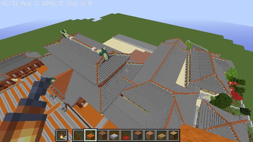 Minecrafterししゃもがマインクラフトで首里城の御内原つくるよ1