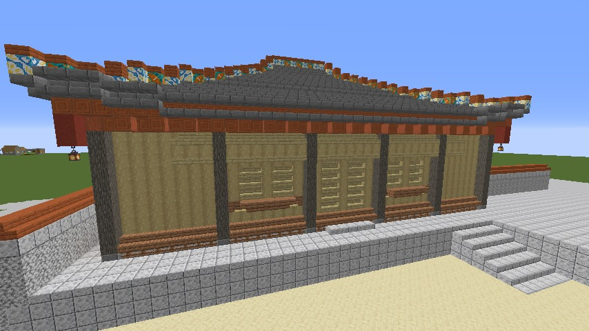 Minecrafterししゃもがマインクラフトで首里城の御内原つくるよ3