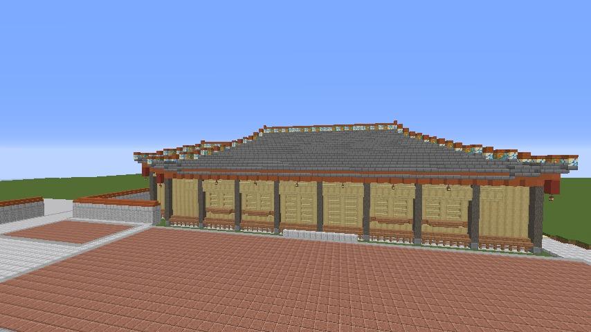 Minecrafterししゃもがマインクラフトで首里城の御内原つくるよ4