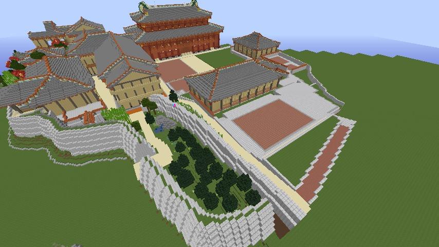 Minecrafterししゃもがマインクラフトで首里城の御内原つくるよ8