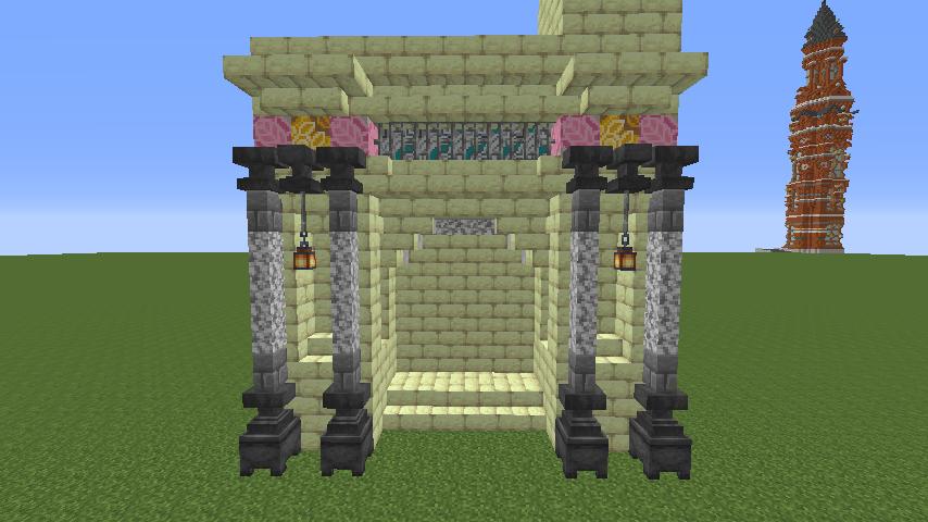 Minecrafterししゃもがマインクラフトで遺跡にありそうな壁を作る2