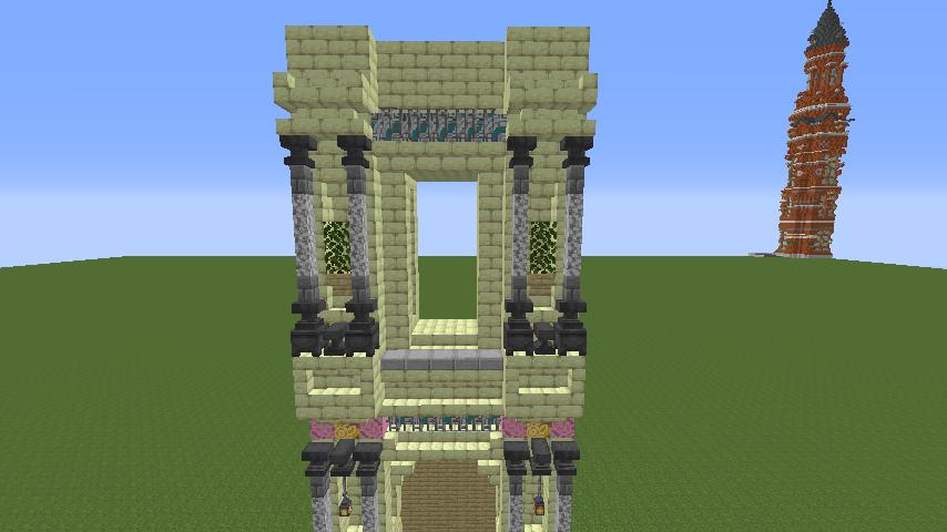 Minecrafterししゃもがマインクラフトで遺跡にありそうな壁を作る3