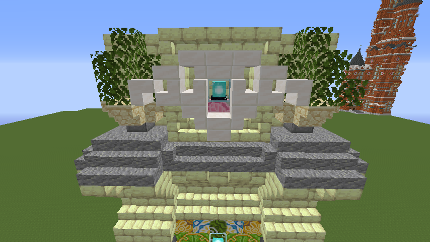 Minecrafterししゃもがマインクラフトで遺跡にありそうな壁を作る6