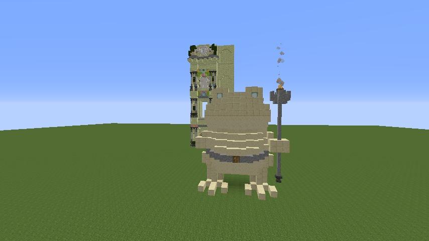 Minecrafterししゃもがマインクラフトで遺跡にありそうな壁を作る8
