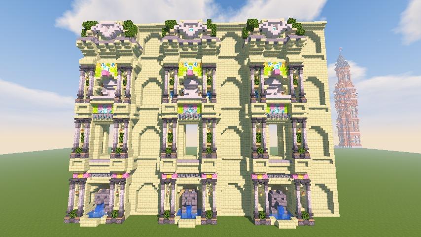 Minecrafterししゃもがマインクラフトで遺跡にありそうな壁を作る9