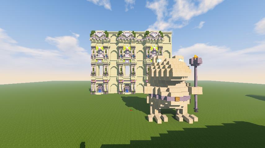 Minecrafterししゃもがマインクラフトで遺跡にありそうな壁を作る10