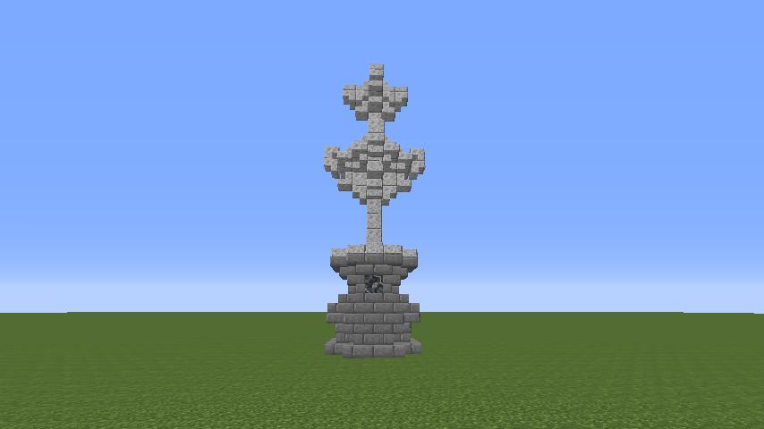 Minecrafterししゃもがマインクラフトでぷっこ村遺跡の螺旋噴水をつくる1