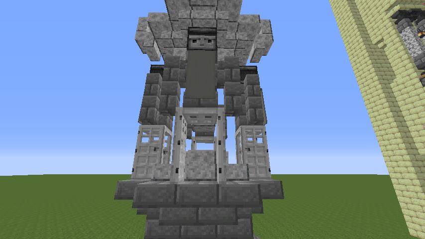 Minecrafterししゃもがマインクラフトでぷっこ村遺跡の螺旋噴水をつくる2