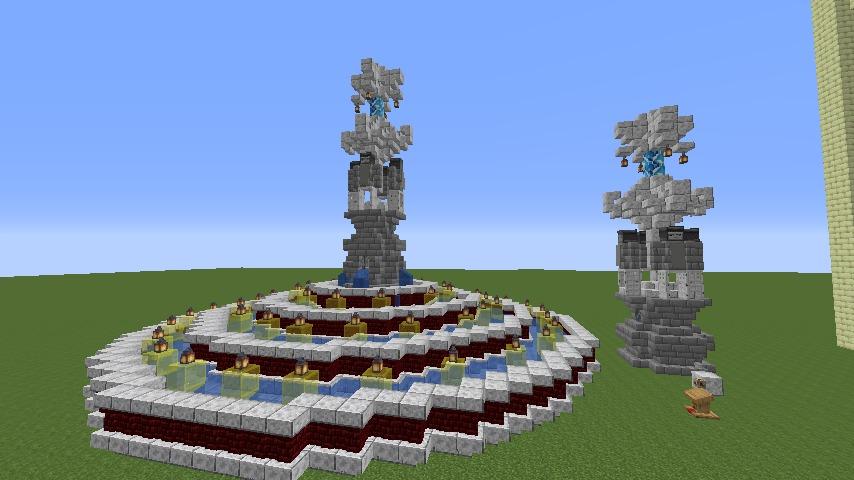 Minecrafterししゃもがマインクラフトでぷっこ村遺跡の螺旋噴水をつくる5