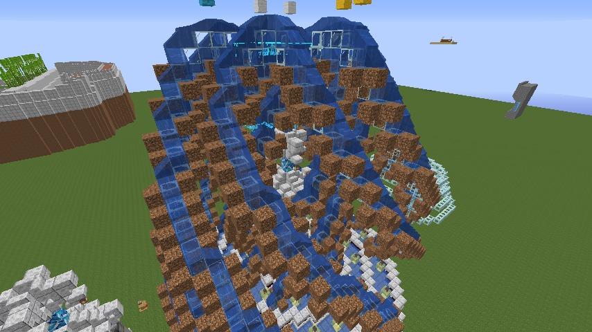Minecrafterししゃもがマインクラフトでぷっこ村遺跡の螺旋噴水をつくる7