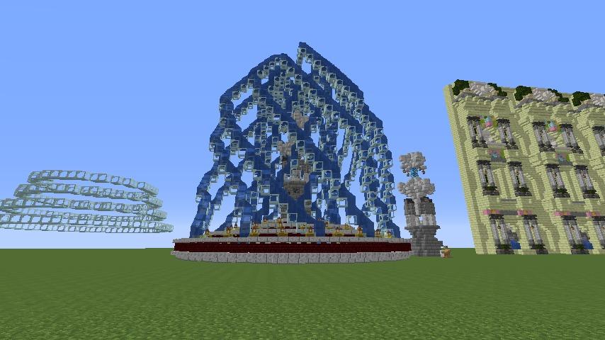 Minecrafterししゃもがマインクラフトでぷっこ村遺跡の螺旋噴水をつくる8
