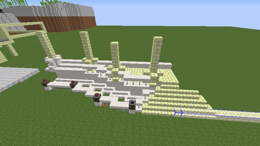 Minecrafterししゃもがマインクラフトでぷっこ村に、地下遺跡にありそうな遺構を作る2