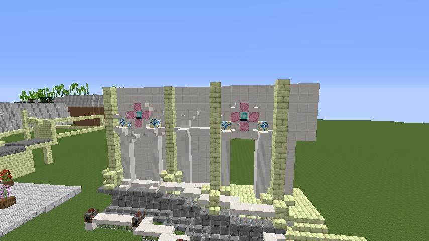 Minecrafterししゃもがマインクラフトでぷっこ村に、地下遺跡にありそうな遺構を作る3