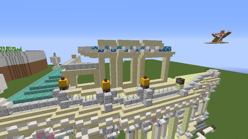 Minecrafterししゃもがマインクラフトでぷっこ村に、地下遺跡にありそうな遺構を作る6