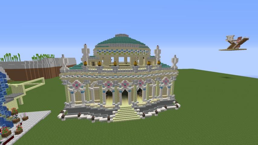 Minecrafterししゃもがマインクラフトでぷっこ村に、地下遺跡にありそうな遺構を作る7