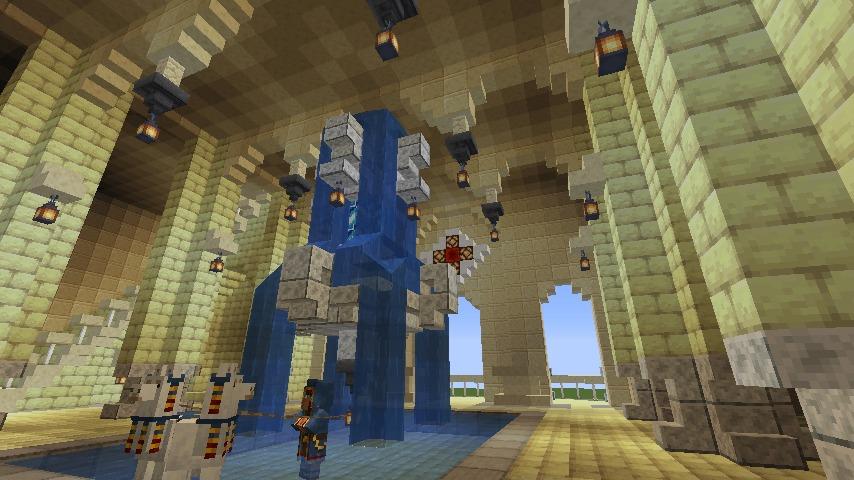 Minecrafterししゃもがマインクラフトでぷっこ村に、地下遺跡にありそうな遺構を作る8