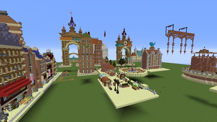 Minecrafterししゃもがマインクラフトで空中都市プコサヴィルを作るよ1
