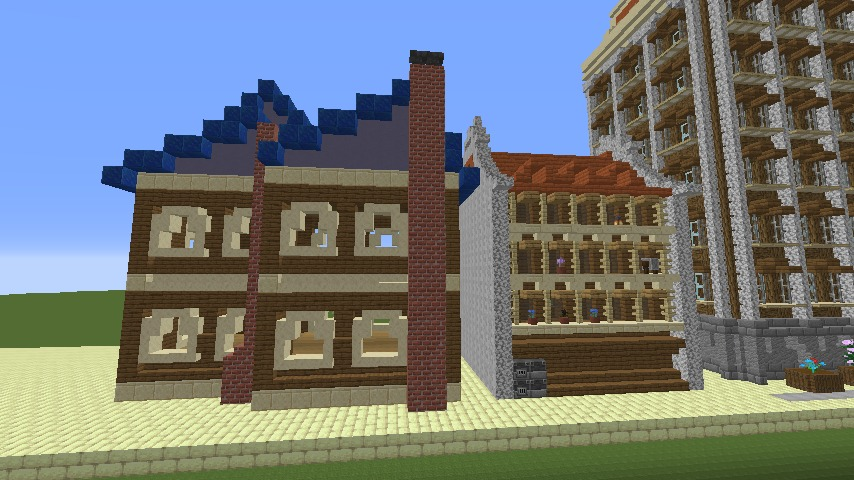 Minecrafterししゃもがマインクラフトで空中都市プコサヴィルを作るよ4