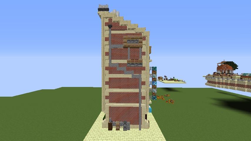 Minecrafterししゃもがマインクラフトで空中都市プコサヴィルのビルを作る5