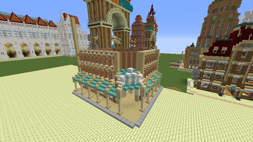 Minecrafterししゃもがマインクラフトで空中都市プコサヴィルのビルを作る9