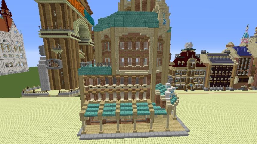 Minecrafterししゃもがマインクラフトで空中都市プコサヴィルのビルを作る10