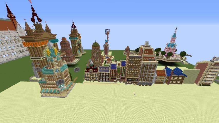 Minecrafterししゃもがマインクラフトで空中都市プコサヴィル下層の街並みを作っていく2