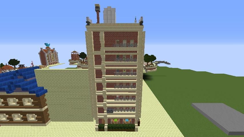 Minecrafterししゃもがマインクラフトで空中都市プコサヴィルのビルを作る6