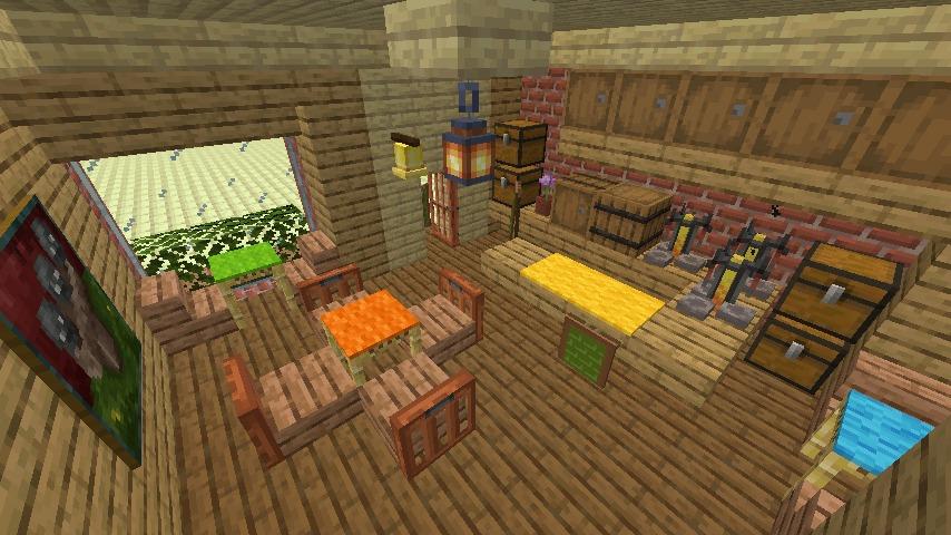 Minecrafterししゃもがマインクラフトで空中都市プコサヴィルのビルを作る3