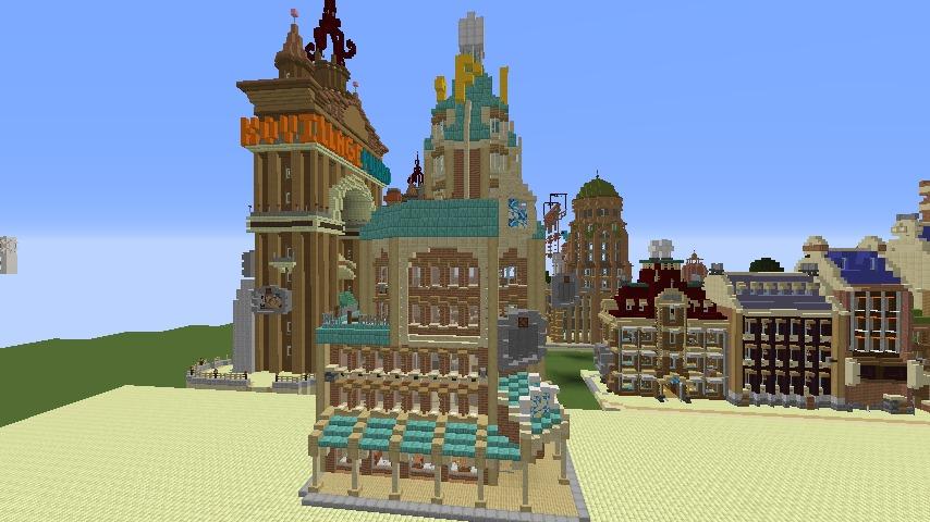 Minecrafterししゃもがマインクラフトで空中都市プコサヴィルのビルを作る11