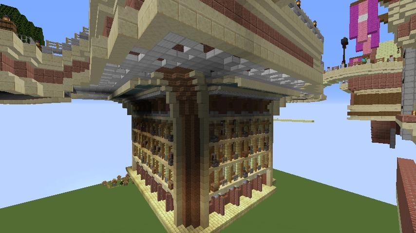 Minecrafterししゃもがマインクラフトで空中都市プコサヴィルの土台をつくる3