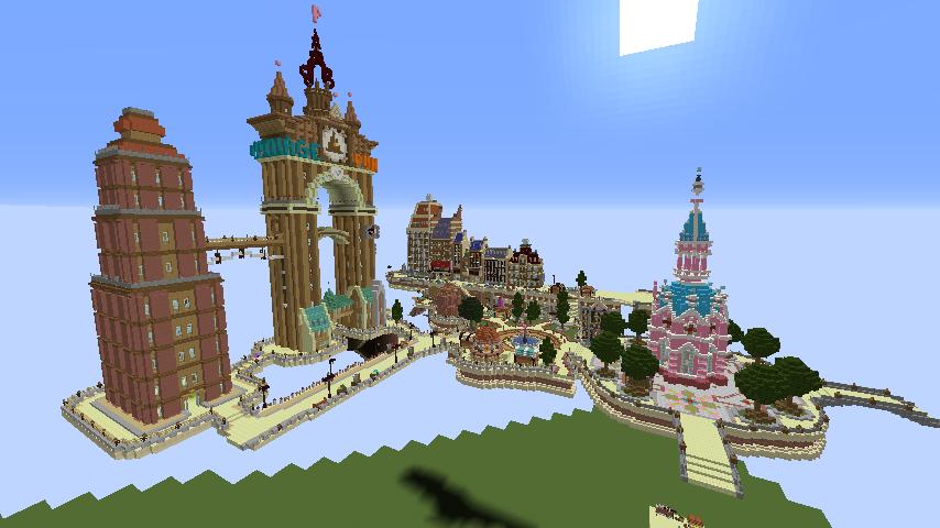 Minecrafterししゃもがマインクラフトで空中都市プコサヴィルの土台をつくる1
