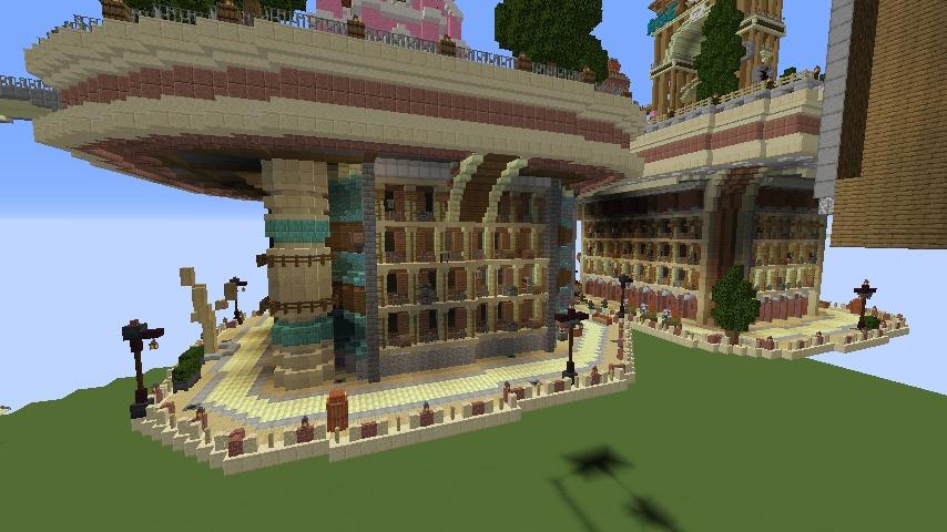 Minecrafterししゃもがマインクラフトで空中都市プコサヴィルの下層を作る1