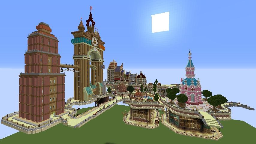 Minecrafterししゃもがマインクラフトで空中都市プコサヴィルの土台をつくる5