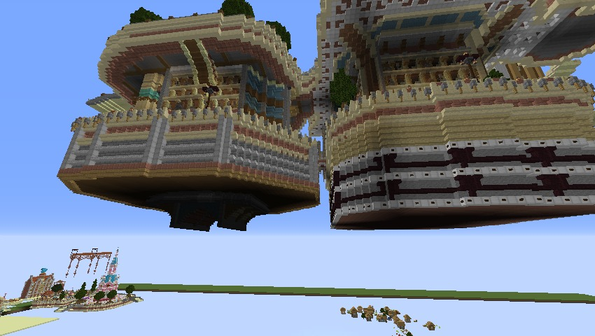 Minecrafterししゃもがマインクラフトで空中都市プコサヴィルの下層を作る2
