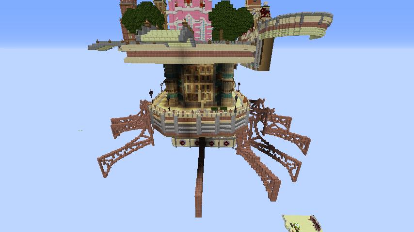 Minecrafterししゃもがマインクラフトで空中都市プコサヴィルの下層を作る5