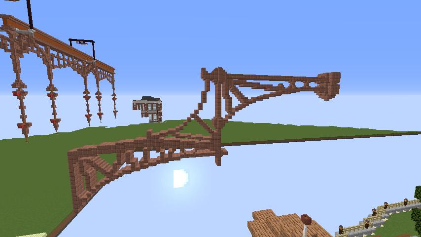 Minecrafterししゃもがマインクラフトで空中都市プコサヴィルの下層を作る3