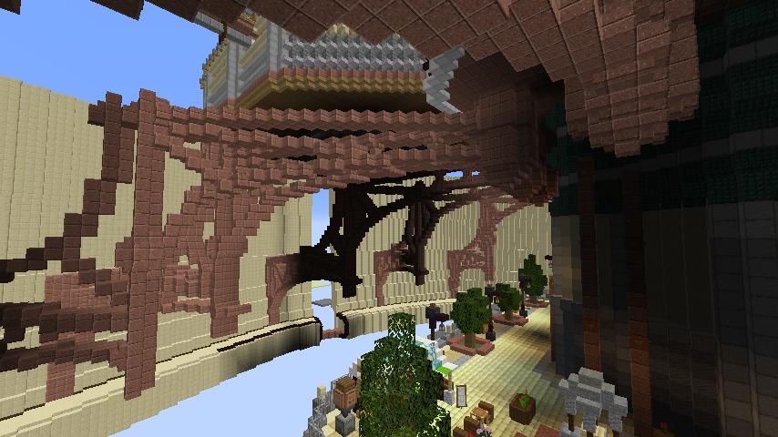 Minecrafterししゃもがマインクラフトで空中都市プコサヴィルの下層を作る8