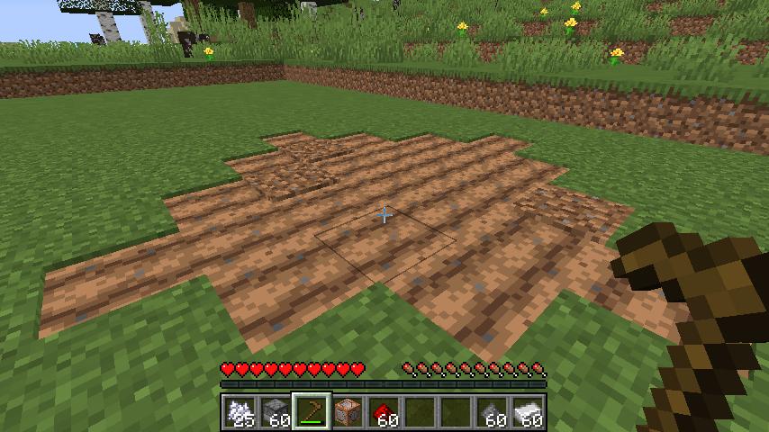 Minecrafterししゃもがマインクラフトで作ったデータパック「Convenient Planting」の紹介をする4