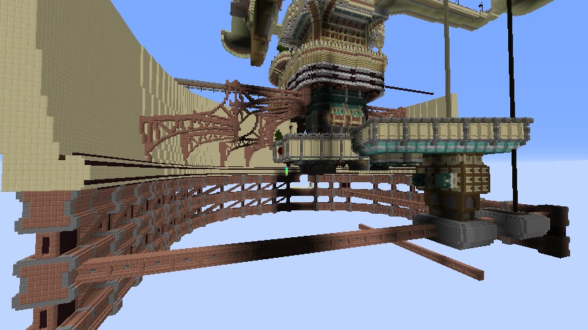 Minecrafterししゃもがマインクラフトで空中都市プコサヴィルをガンガン作っていく2