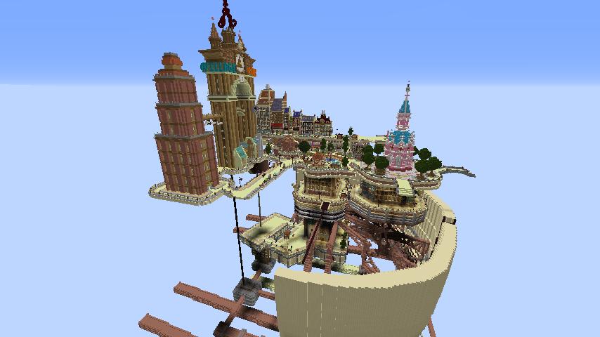Minecrafterししゃもがマインクラフトで空中都市プコサヴィルをガンガン作っていく5