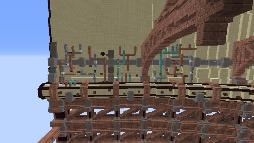 Minecrafterししゃもがマインクラフトで空中都市プコサヴィルをガンガン作っていく7