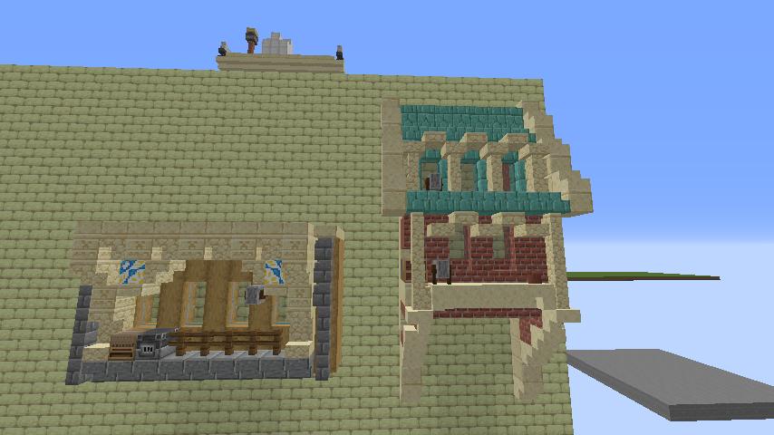 Minecrafterししゃもがマインクラフトで空中都市プコサヴィル下層の街並みを作っていく4